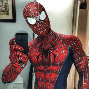 Halloween Classic Raimi Spiderman Adults Kids Cosplay Costume Lycra Zentai Suit