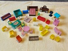 LOT of 36 Vintage Assorted Plastic Dollhouse Furniture