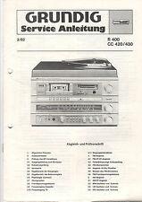 Grundig Service istruzioni manual R 400 CC 420/430 b527