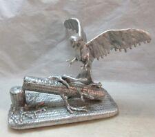 Aluminum metal art sculpture of Eagle