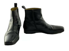 Mezlan Vero Cuoio Square Toe Zipper Chelsea Boots M 12 Spain Black