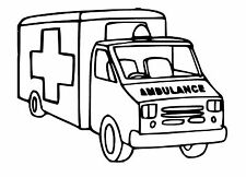 Ambulance Toy Box Vinyl Decal / Sticker