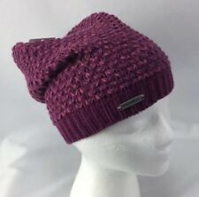 Merrell Katamai Slouch Beanie Amaranth Womens Knitted Hat Cap Purple Pink  New 86193f6f434