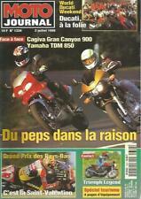 MOTO JOURNAL N°1334 CAGIVA GRAN CANYON 900 / YAM TDM 850 / TRIUMPH LEGEND