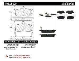 Disc Brake Pad Set-C-TEK Metallic Brake Pads Rear Centric 102.05400