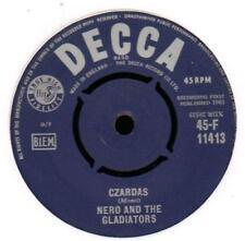 """NERO & les gladiateurs (7"""" VINYL) czardas/qu' est il y a longtemps-Decca-F-EX +/Presque comme neuf"""