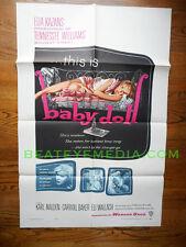 BABY DOLL-MINT-MOVIE POSTERS-CULT,EXPLOITATION,SEX,FILMS,KAZAN,CAROL BAKER,DRAMA