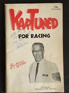 1960's PAT VIDAN Chief Starter Indianapolis 500 Personally Signed KARTUNED Bookl