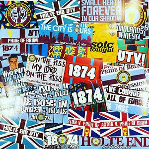 100 x Aston Villa Ultra Style Stickers inspired by AVFC Villans Poster Programme