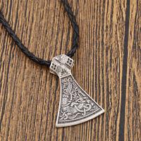 Retro Gothik Viking Mammen Norse Axt Anhänger Halskette Unisex Schmuck Geschenk