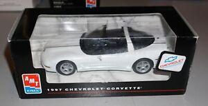 1997 Chevrolet Corvette White AMT Window Box Promo 1/25 New In Box.