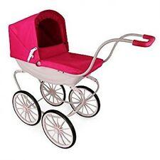 Large Dolls Vintage Pink Pram Girls Baby Carriage Mother Play Game Toy Pushchair