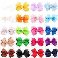 20pcs Baby Kids Girls Toddler Hair Ribbon Bows Alligator Hair Clips Bow Hairpins