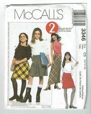 McCall's Sewing Pattern 3346 Girls Skirts School Uniform Size 12-16