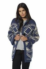 Be You Aztec Hooded Cardigan Blue Size UK 8/10 rrp £25 DH181 UU 12