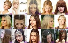 Head Chain Women Fashion Metal Rhinestone Jewelry Headband Head Piece Hair band