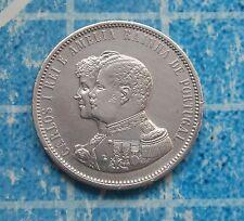 Portugal -D. Carlos - 1000 Réis -1898- 4º Cent. Descoberta da India - Silver -XF