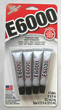 4 Tubes E-6000 Permanent Bond Glue Clear Transparent 21.2ml / Super-Glue