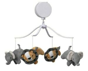 Bedtime Originals Jungle Fun Musical Baby Crib Mobile Animals Jungle