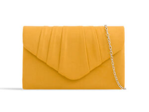 Suede New Evening Clutch Bags Prom Party Wedding 26 Colours W308