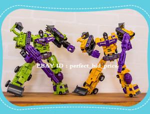 "New Devastator 6 In 1 Deformabl Robot G1 Engineering Action Figure 11"" Kids Toys"
