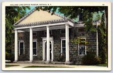 Holland Land Office Museum Building in Batavia, New York Postcard Unused