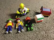 (A1) Playmobil Motorcycle And Accessory Lot vintage