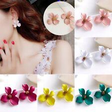 Fashion Boho Big Flowers Ear Stud Earrings Women Wedding Bridal Jewelry Gifts