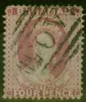 Bahamas 1876 4d Dull Rose SG36 P.14 Fine Used