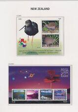 XC94508 New Zealand 2001 kiwi birds views landscapes sheets MNH