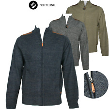 Giacca Uomo Aperta Con Cerniera Zip Cardigan Maglione in lana Piquè Giacchettino