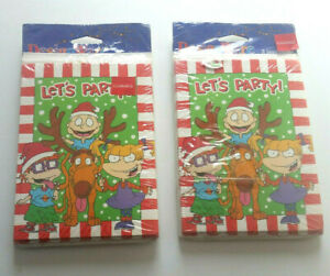 Rugrats Christmas Party Invitations Lot of 16 New Old Stock Nickelodeon Cartoon