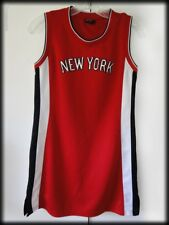 Black & White New York 212 Red Basketball Jersey w Distressed Bling Juniors Sz M