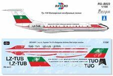 Revaro Decal Tu-134 Bulgarian Airlines Red Stripe Veb Plasticart 1/100
