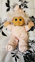 "Vintage Russ Berrie Troll Tootsie Plush Stuffed Doll Pink Jammies and Hat 12"" VG"