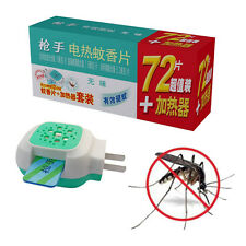 72 x Mats + Electric Mosquito Repeller Killer Smokeless Effective Control 12 hrs