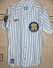 MAGALLANES BC Venezuela Baseball Original TOPPER White Blue Jersey Large Size