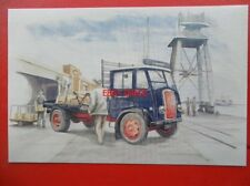 POSTCARD THORNYCROFT NIPPY LORRY AT THE DOCKSIDE 1940S