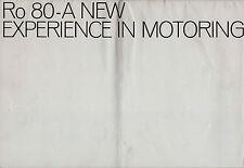 NSU Ro80 1969-71 UK Market Sales Brochure