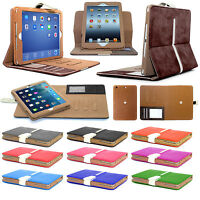 Genuine GT Suede Leather Smart Flip Wallet Case Cover  for iPad Mini 2 3 Retina