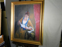 Scott Duncan Listed Artist Original Oil On Canvas Portrait Painting
