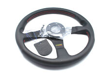 MOMO Steering Wheel Tuner Black Leather Red Stitching 350mm Genuine Brand New