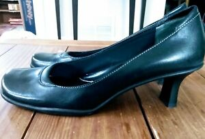 Nine & Co Womens High Heels Black Size 8 Square Toe Comfort Shoe