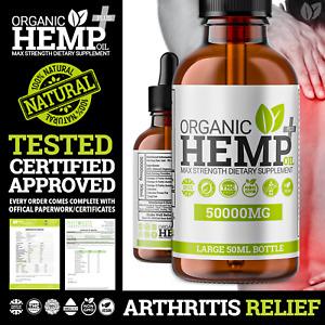 🟢Natural Hemp Oil Pain Relief Drops 🟢 Arthritis Stiffness Support | 50,000mg