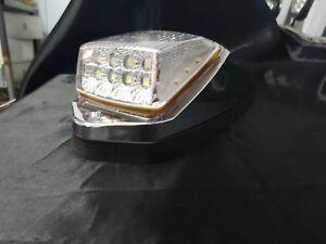 12 Volt LED Chrome Cab Roof Light (Clear/Amber) Suit Most Trucks