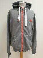 P103 MENS SUPERDRY ORANGE LABEL GREY FULL ZIP TRACKSUIT JACKET HOODIE UK M EU 50