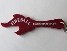 Key Chain Metal Bottle Cap Opener ~ Sazerack Company FIREBALL Cinnamon Whisky