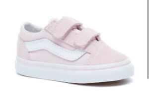 🎀Girls Baby Pink Vans Size 8 Infant 🎀 New!