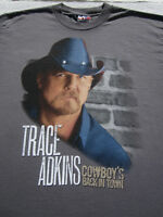 TRACE ADKINS 2011 tour LARGE concert T-SHIRT cowboy's back in town