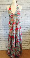 Cute New Look Organic Cotton Maxi Dress Ladies Womens Holiday Beach Size UK10 A3